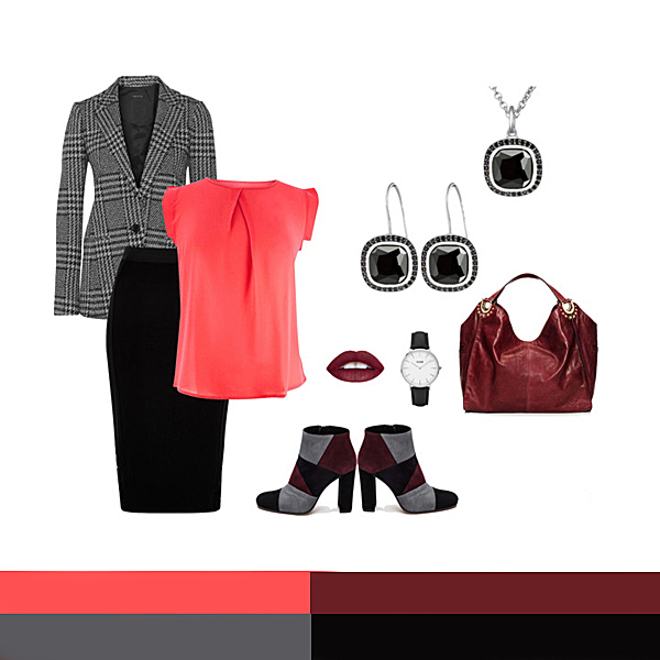 Business: Coral, Bordeaux, Gri, Negru