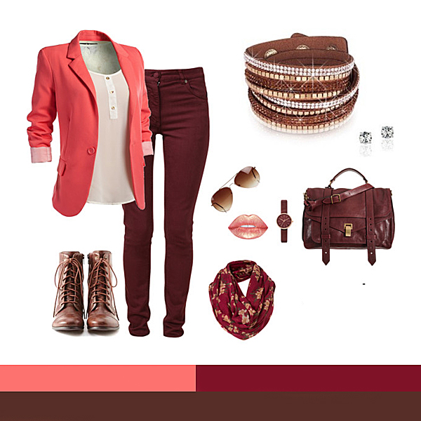 Casual: Coral, Bordeaux, Maro