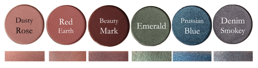 Fard Ochi Individual Anastasia: Dusty Rose, Red Earth, Beauty Mark, Emerald, Prussian Blue, Denim Smokey